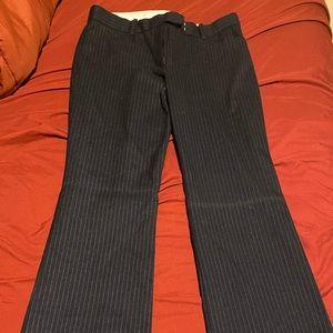 Blue w/ white pinstripes dress pants